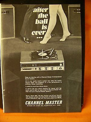 Vintage 1973 Channel Master 4-D Sound Systems Original Advertising Print Ad