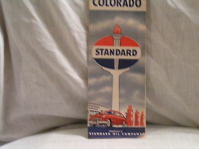 1950 Standard Oil Co Road Map For Colorado