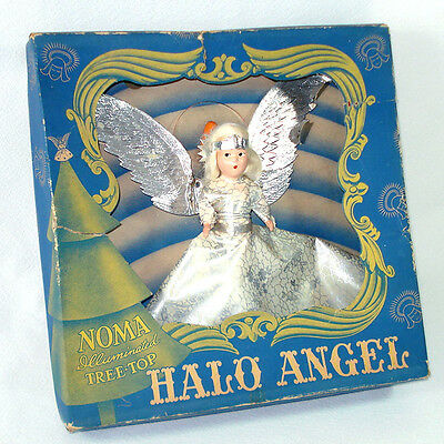 1940s Noma Composition Face Halo Angel Christmas Tree Topper