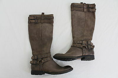 Women's Born Brown Leather Boots Size 6 / 36.5  With Zippers