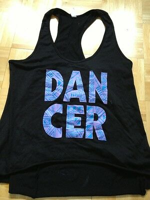 T-BACK TOP Adult Medium (MA) Black,On Stage America, DANCE, Athletic,EXCELLENT