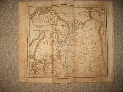 Antique 1809 North Russia Muscovy In Europe Copperplate Map Archangel Lapland