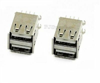 10Pcs Double Usb Female Socket Pcb Mount Soldering Ic New qu
