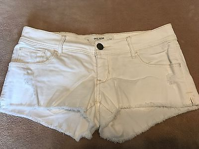 GILLY HICKS SYDNEY CHEEKY STRETCH CUT OFF JEAN SHORTS WOMEN SIZE 2 w26 WHITE
