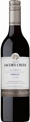Jacob's Creek `Classic ` Merlot 2016 (12 x 750mL), SE AUS.