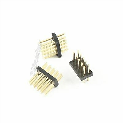 50Pcs Gold Plated Pin Header 1.27MM Pitch Male 2X5 Pin 10 Pin Straight Strip so