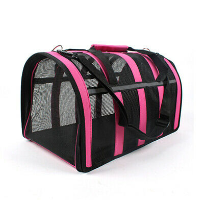 Pet Carrier Soft Sided Cat / Dog Comfort Travel Tote Bag Airline Approved S/M/L