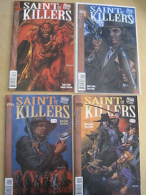 "PREACHER : ""SAINT of KILLERS"" : complete 4 ISSUE SERIES by ENNIS & PUGH. DC.1996"