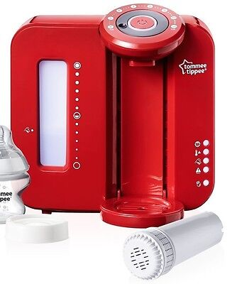 Tommee Tippee Closer to Nature Red Perfect Prep Machine, new filter