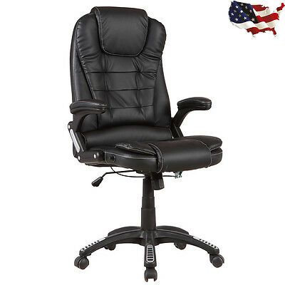PU Leather Executive Office Chair Tilt Swivel High Back Computer Desk Task NEW