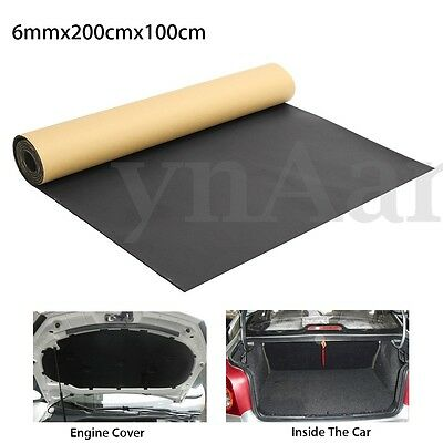 2mx1mx6mm Car Van Sound Proof Deadening Insulation Mat Cell Foam Closed Cotton