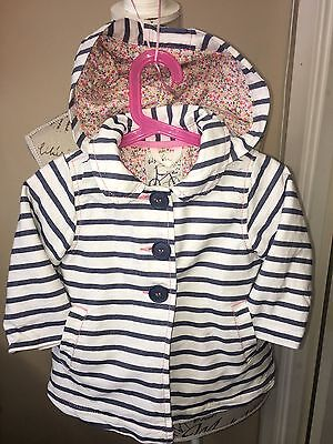 Girls Next jacket 12-18 months striped FREE P&P
