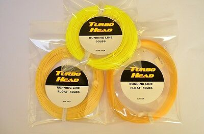 New Turbo Head Running Lines Floating or Intermediate, 40lb, 30lb or 50lb