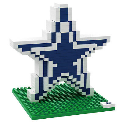 NFL DALLAS COWBOYS 3D BRXLZ Puzzle Logo Set Football