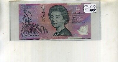 Australia $5 Currency Note Xf 393F