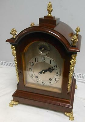 late victorian mahogany and brass winterhalder ting tang bracket clock