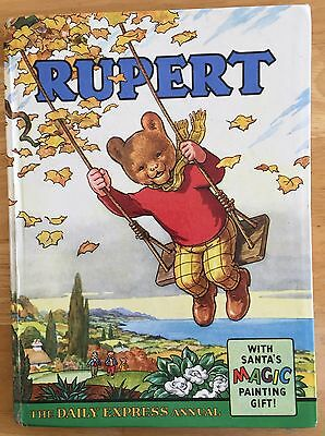 RUPERT ORIGINAL ANNUAL 1961 Inscribed Not Price Clipped Magic Paintings Done VG