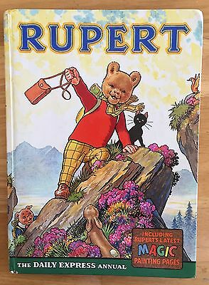 RUPERT ORIGINAL ANNUAL 1964 Inscribed Price Intact  Magic Paintings 90% Undone