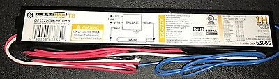 Ge 75954 Ge132-Mvps-H 120-277V Electronic One Lampt8 Programmed Start Ballast