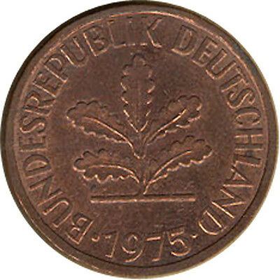 Germany - 2 Pfenning - 1975 F