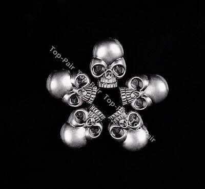 15X21MM 20pcs Rock Antique Silver Big Skull Conchos Rivet Stud For Leathercraft