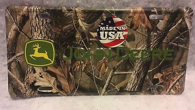 John Deere Camo Design Metal LICENSE PLATE