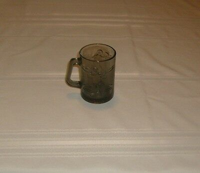 Ronald Mcdonald Smoke Gray Coffee Glass Mug Cup Football Series Collectible