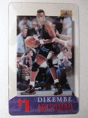 1$ Telefonkarte Phone-Card USA Basketball League Spieler Player DIKEMBE MUTOMBO