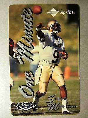 Phonecard Telefonkarte USA Football STEVE McNAIR Player Sprint Pin Not sratched