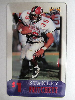Telefonkarte Phonecard USA Football STANLEY PRITCHETT National Football League