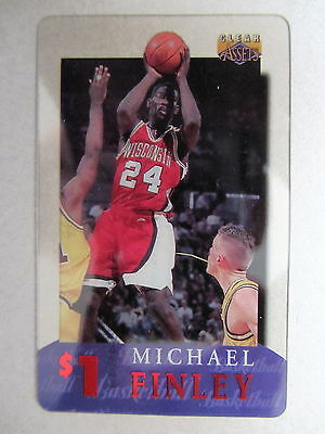 1$ Telefonkarte Phone-Card USA Basketball League Spieler Player MICHAEL FINLEY
