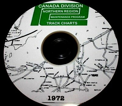 Penn Central 1972 Canada Division - Northern Region Track Chart PDF Pages on DVD