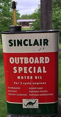 Vintage Sinclair With Dino The Dinosaur Outboard Special Motor Oil - 1 Quart Can