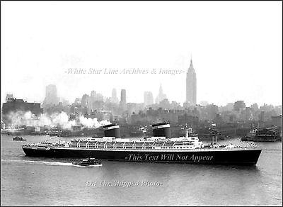 Photo Print: The SS United States: Last Riband Record Holder Off Manhattan, 1952