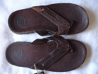 Gotcha Men Sandal Flip Flop New Size 10 Brown Leather Shoe Sandals Shoes