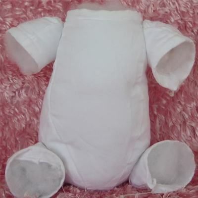 Doe Suede White Body for a 16 inch to 17 inch Doll Kit ~ REBORN DOLL SUPPLIES