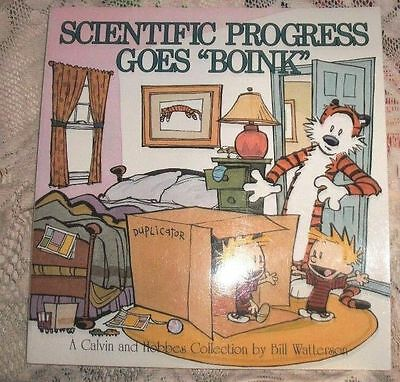 CALVIN & and HOBBES BOOK - SCIENTIFIC PROGRESS GOES BOINK - Us Paperback Comic
