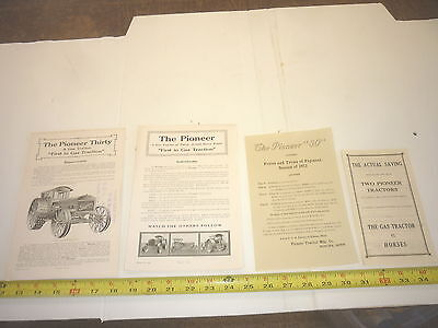 4  Old Pioneer Tractor Tractor Sales Brochure Paper & Pages