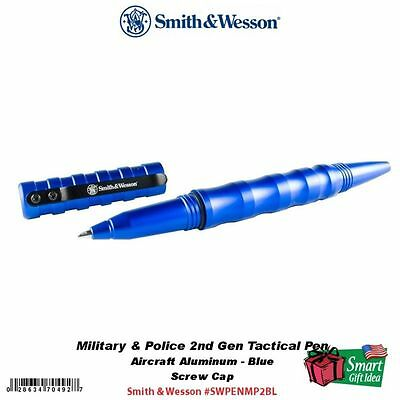 Smith & Wesson Military & Police 2nd Gen Tactical Pen, Blue #SWPENMP2BL