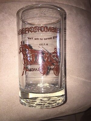HORSE RACE MEADOWLANDS NJ Glass 1978 Money Winner Year Abercrombie Pacer VTG