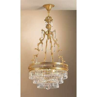 Classic Lighting Renaissance Crystal Pendant, French Gold - 55514FGC