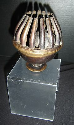 Antique Chinese Qing Tibetan Bronze Temple Bell Citron Hand of Budhha Form Rare.