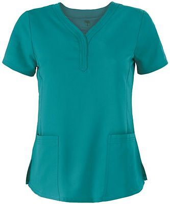 "Healing Hands Scrubs Style 2167 V-Neck Scrub Top in ""Teal"" Size XL"