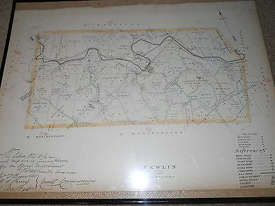 Newlin Township Pa map circa 1800's james Reynolds T Chandler