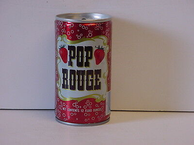 Vintage Pop Rouge Crimped Steel Top Opened Soda Can HTF Product of Coca-Cola