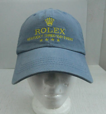Rolex 2010 Kentucky Three 3 Day Event Blue Hat Cap Lexington Kentucky Ky Horse