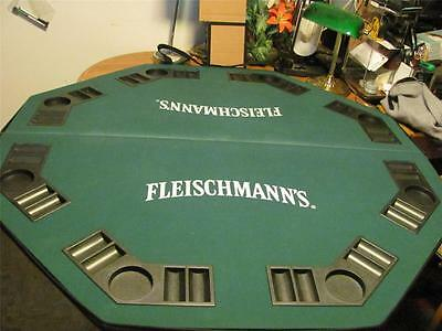 Rare Fleischmann's Whiskey-Gin Pub Card Playing Table-Very Good Used-Man Cave