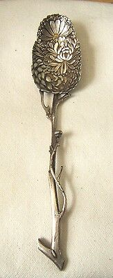 Chinese Export Silver Spoon Floral Naturalistic