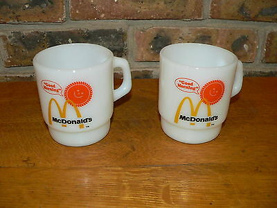 Lot of 2 Vintage Fire King McDonald's Good Morning Coffee Mugs~See Details