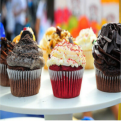 100Pcs Paper Cake Cup Cupcake Liners Cases Baking Muffin Dessert Party Wedding